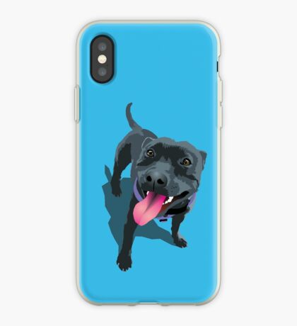 Staffie Dog Aqua iPhone Case