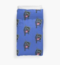 Staffy Blue Duvet Cover
