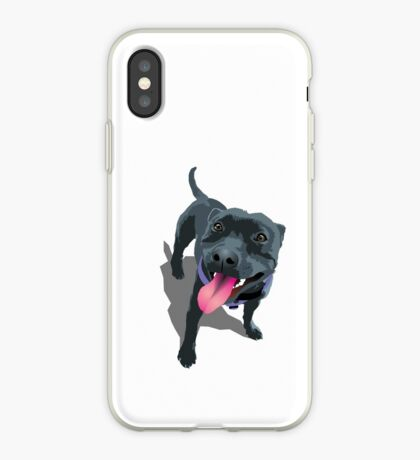 Staffy White iPhone Case
