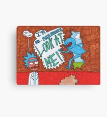 Rick and Morty (Kool aid Parody) Canvas Print
