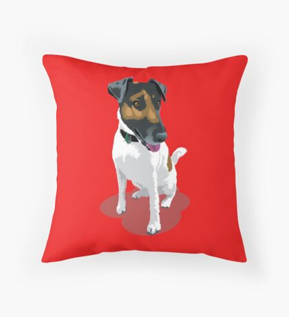 Foxy Terrier Throw Pillow