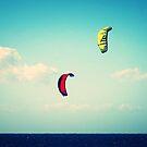 Kitesurfers Formentera by Dirk van Laar