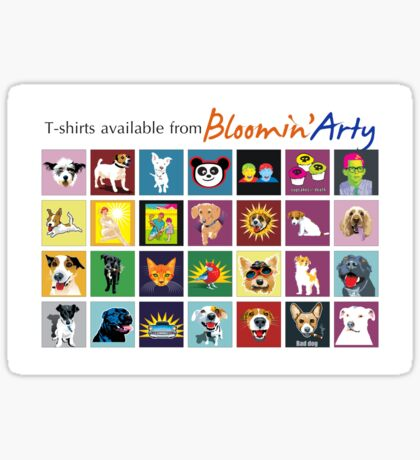 Bloomin' Arty T-Shirts Sticker
