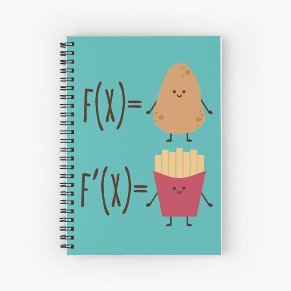 The derivative of a potato Spiral Notebook