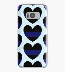 Blue Lives Matter Heart Pattern Samsung Galaxy Case/Skin