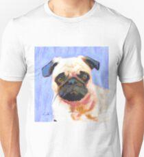 Blue Pinky Pug Unisex T-Shirt