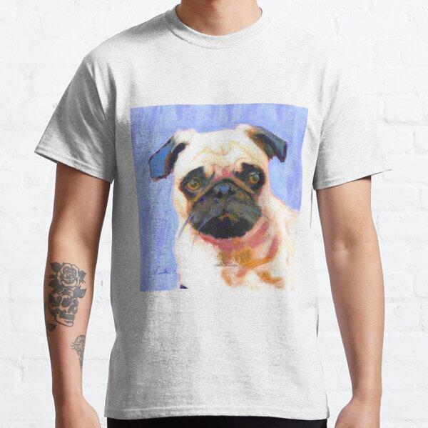 Blue Pinky Pug Classic T-Shirt
