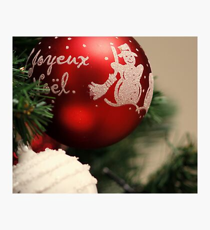 French Merry Christmas Photographic Print