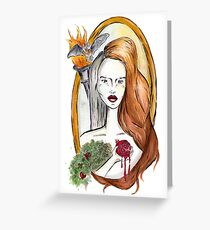 Persephone - Greek Goddess of Spring and the Underworld Greeting Card