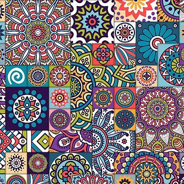 Tile pattern flower mandala by SweetSapling