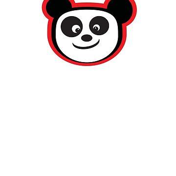 Smiling Panda by aartytees