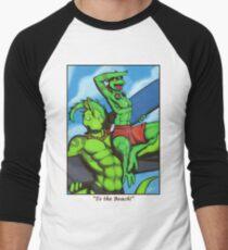 """To the Beach!"" Men's Baseball ¾ T-Shirt"