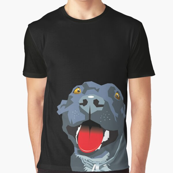 Black Staff Staffy Graphic T-Shirt