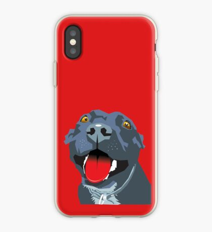 Black Staff Staffy iPhone Case