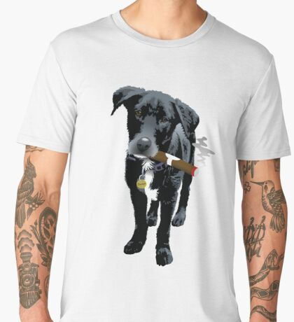 Smokin' Staff Cross Staffy Men's Premium T-Shirt
