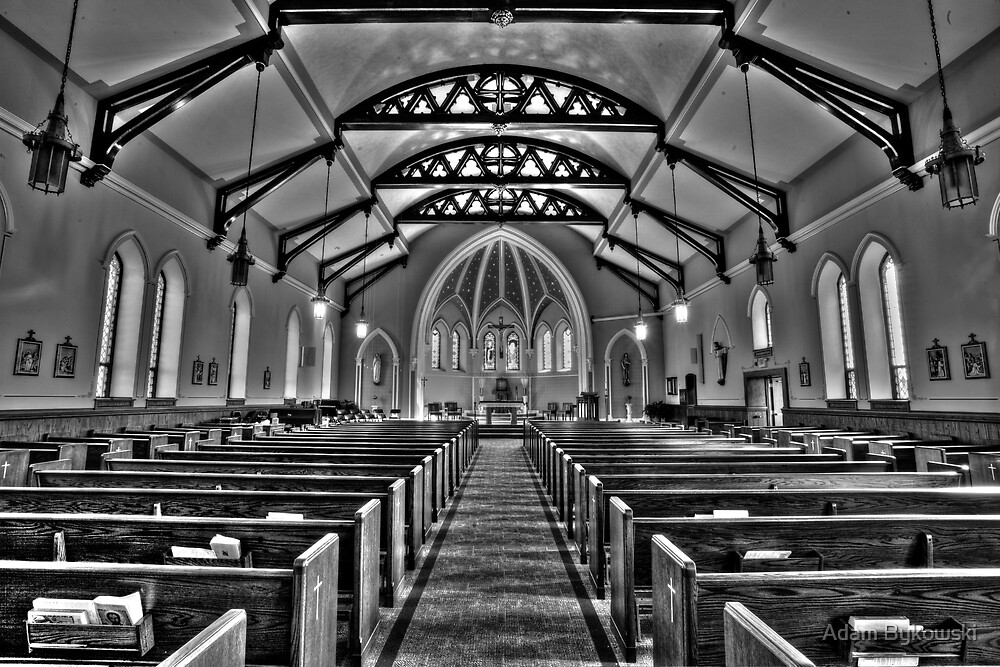 St. Dennis Church Bathed in Black and White by Adam Bykowski