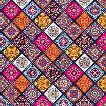 Indian flower mandala pattern by SweetSapling