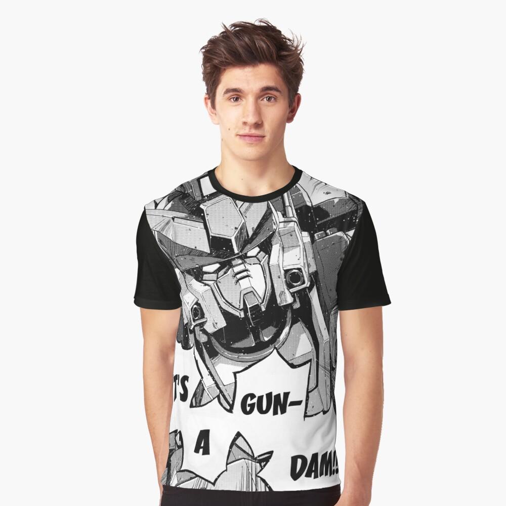 Gundam Wing Manga Heavyarms Graphic T-Shirt Front