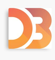 D3.js Logo Metal Print