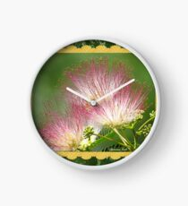 Mimosa ~  An Exotic Flowering Tree Clock