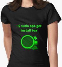 Linux sudo apt-get install tea Women's Fitted T-Shirt