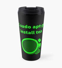Linux sudo apt-get install tea Travel Mug
