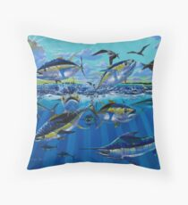 Yellowfin Run Throw Pillow