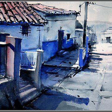 Blue Houses of Pruna by PAEZdePRUNA