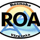 Roanoke Virginia City State Sticker by katztz