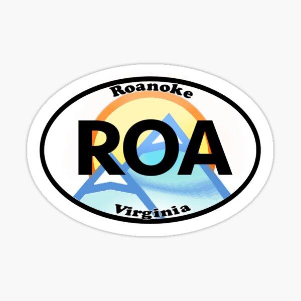 Roanoke Virginia City State Sticker Sticker