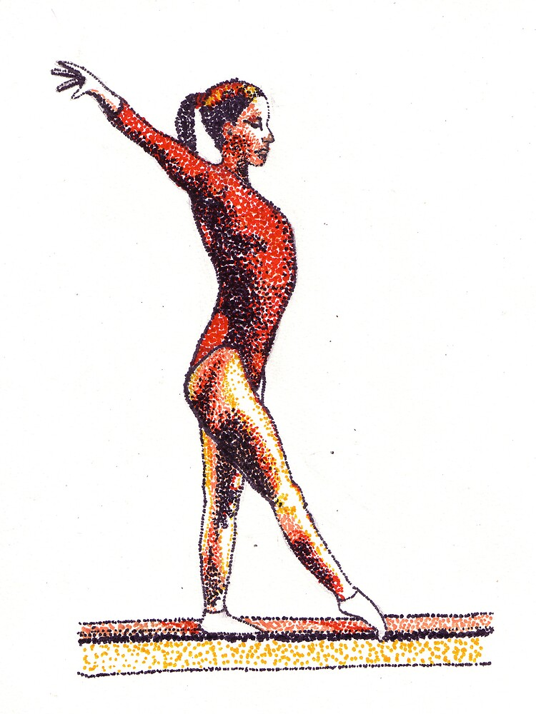 Stippled Gymnast  by selanikioa
