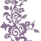 Flower Swirl Design (138 Views) by aldona