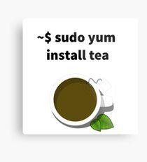 Linux sudo yum install tea Metal Print