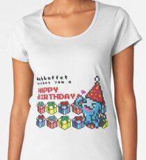 [Pokemon] 8Bit Wobuffet Birthday Edition Women's Premium T-Shirt