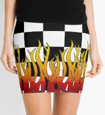 Checkered Racing Flames Mini Skirt