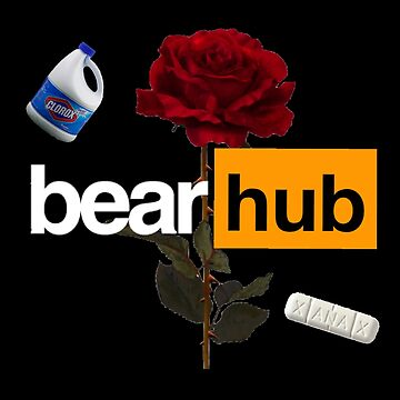 Blackbear BearHub with rose by emathechickenlo
