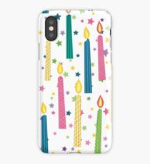 Cartoon Birthday Candles Seamless Background Pattern iPhone Case/Skin