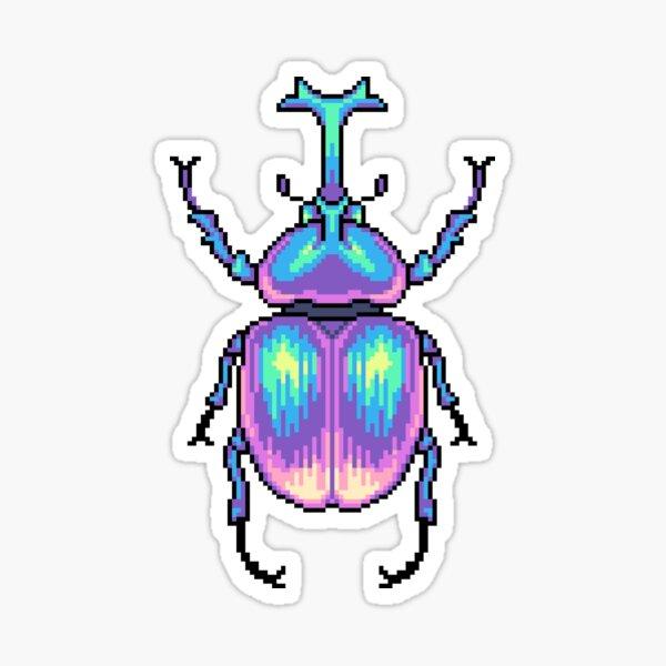 Escarabajo Pixel Pegatina