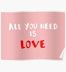Romantic phrase for your t-shirt, case or other stuff Poster