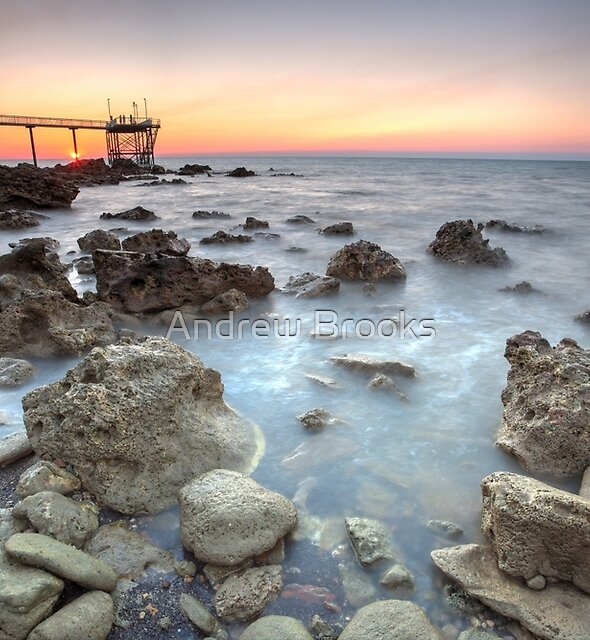 Nightcliff Pier Rocks, Darwin, Northern Territory, A by Andrew Brooks