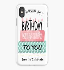 Birthday Greeting Cards iPhone Case/Skin
