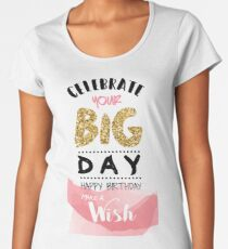 Birthday Greeting Card Women's Premium T-Shirt