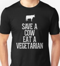 AWESOME XJ450 Save A Cow Eat A Vegetarian New Product T-Shirt