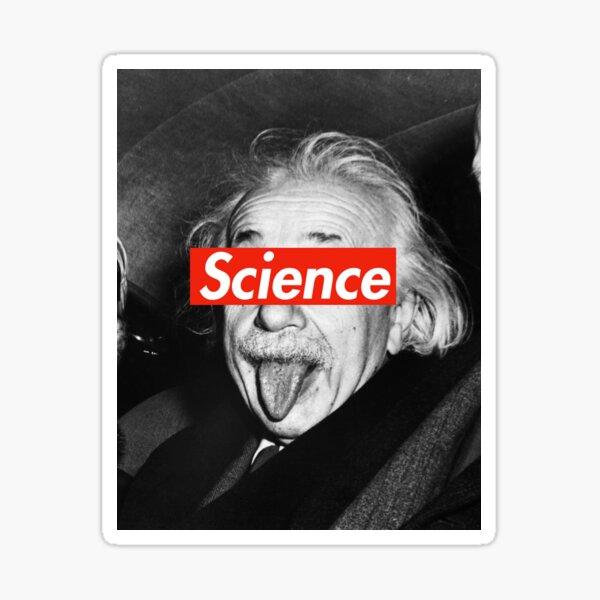 Albert Einstein Supreme Science Pegatina
