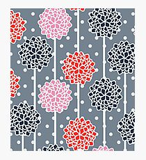 Blossom pattern with dots Photographic Print