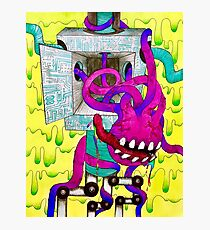 Sci-Fi Tentacle Monster Emerging From Robot Photographic Print