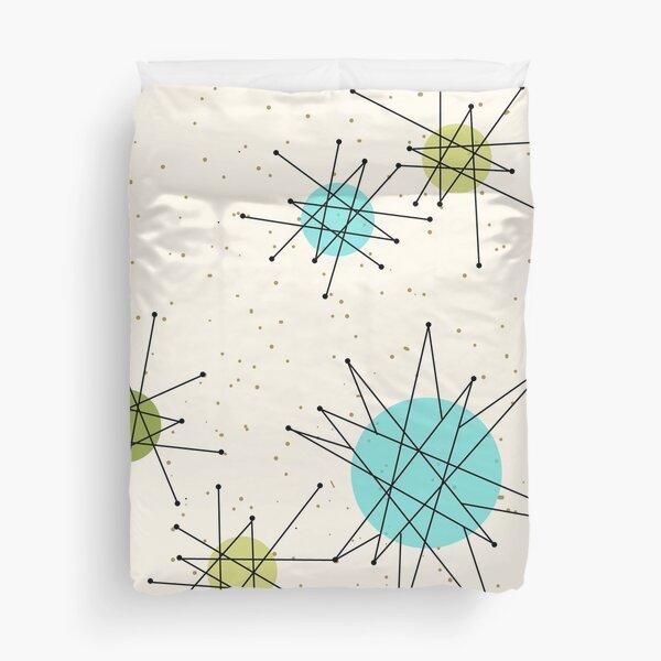 Iconic Atomic Starbursts Pattern Duvet Cover