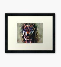 Wolf Timber Framed Print