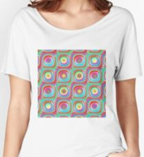 Retro seamless pattern Women's Relaxed Fit T-Shirt