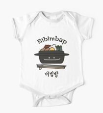 Bibimbap Korean rice bowl namul vegetables egg One Piece - Short Sleeve